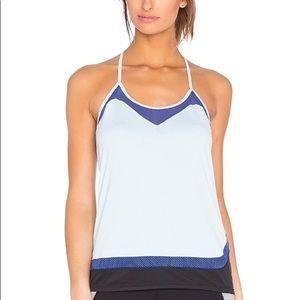 Splits59 light blue mesh yoga tank